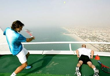 The Highest Tennis Court