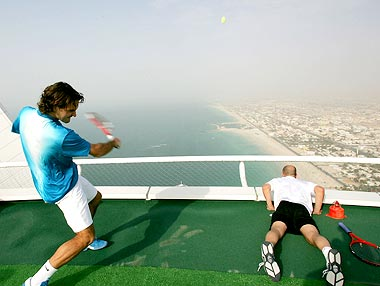 The Highest Tennis Court