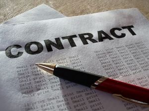 basketball contract