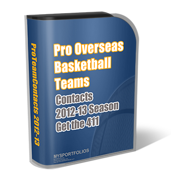 Pro Team Contacts 2012-2013