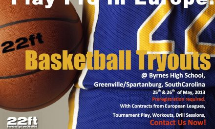 22ft Europe Play Pro Basketball Tryouts