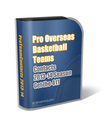 Pro Team Contacts Updated for 2013-2014